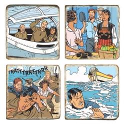 Placas de Mármol Blake y Mortimer Maldición de los treinta Denarios T2 (5x5cm)