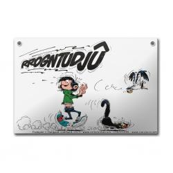 Placa esmaltada cómics Coustoon Tomás el Gafe Rrogntudjû COUS36 (2015)