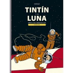 Álbum doble Juventud Tintín y la Luna: Objetivo: La Luna y Aterrizaje en la Luna
