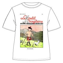 Camiseta 100% algodón Tintín y Milú Le Petit Vingtième Kilt 732002 (2019)