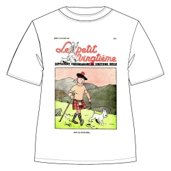 T-shirt 100% cotton Tintin and Snowy Le Petit Vingtième Kilt 732002 (2019)