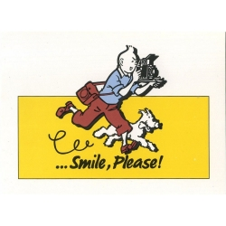 Carte postale Color Star BENELUX 1992 Tintin, Smile Please Jaune (10x15cm)