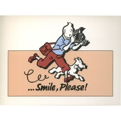 Carte postale Color Star BENELUX 1992 Tintin, Smile Please Rose (10x15cm)