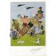 Ex-libris Offset d'Astérix: Cordoba, hommage à Uderzo et Goscinny (14,5x21cm)