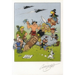 Ex-libris Offset Asterix: Cordoba, Tribute to Uderzo and Goscinny (14,5x21cm)