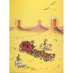 Póster cartel offset Equinoxe Lucky Luke Espejismo (30x40cm)