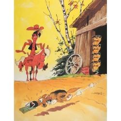 Poster affiche offset Equinoxe Lucky Luke Mousetrap (30x40cm)