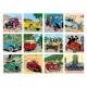 2020 Desktop Calendar Tintin and cars 15x21cm (24435)