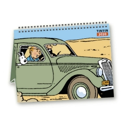 2020 Desktop Calendar Tintin and cars 15x21cm (24435)