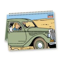 Calendrier de bureau 2020 Tintin et les voitures 15x21cm (24435)