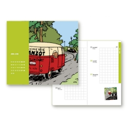 2020 Pocket diary agenda Tintin and cars 9x16cm (24337)