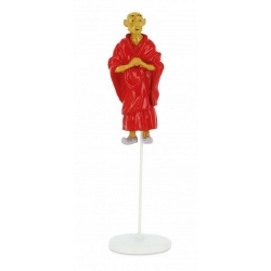 Tintin figurine Monk Blessed Lightning collection Carte de voeux 1972 (46518)