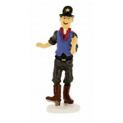 Figurine Tintin du Sheriff ivrogne collection Carte de voeux 1972 (46519)