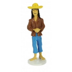 Tintin figurine the Indian Guide Caraco collection Carte de voeux 1972 (46520)