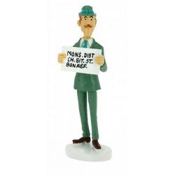 Tintin figurine the secretary Spalding collection Carte de voeux 1972 (46521)