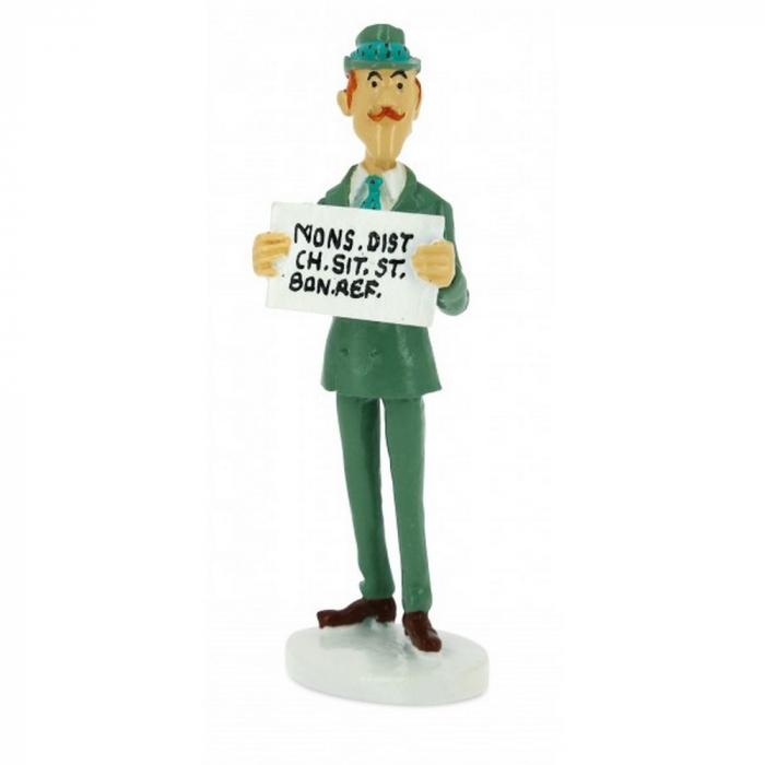 Figurine Tintin du secrétaire Spalding collection Carte de voeux 1972 (46521)