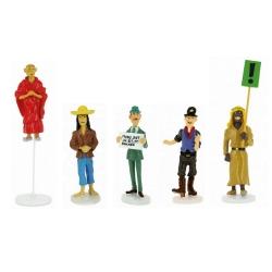 Set de figuritas Tintín Moulinsart Serie 9 colección Carte de voeux 1972 (2019)