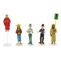 Set de figurines Tintin Moulinsart Série 9 collection Carte de voeux 1972 (2019)