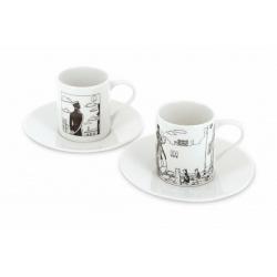 Set de deux tasses à café et soucoupe Corto Maltese à Venise (479821)