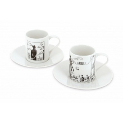 Set of two espresso cup and saucer Corto Maltese in Venice (479821)