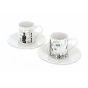 Set of two espresso cup and saucer Corto Maltese in Venice (479821)