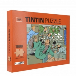 Tintin puzzle, weightlessness in Moon Rocket with poster 50x66,5cm 81550 (2019)