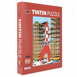 Tintin puzzle, Moon Rocket Ready for take off with poster 50x66,5cm 81549 (2019)