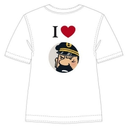 T-shirt 100% cotton Tintin I Love Haddock 853001 (2010)