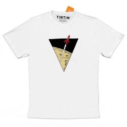 Camiseta Tintín Las aventuras de Tintín: El cohete lunar - Blanco (2018)