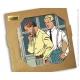 Placa mármol colección Blake y Mortimer La vara de Plutarco (20x20cm)