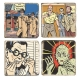 Collectible Marbles signs Blake and Mortimer The Strange Encounter (5x5cm)