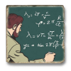 Collectible marble sign Blake and Mortimer The Strange Encounter (20x20cm)