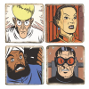 Collectible Marbles signs Blake and Mortimer The Septimus Wave (5x5cm)