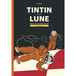 Double Album Moulinsart Tintin Objectif Lune and On a marché sur la Lune (FR)