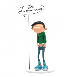 Figurine Plastoy Gaston Lagaffe et sa pancarte Le travail (00317)