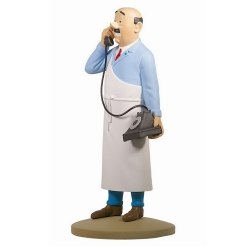 Collectible figurine Tintin, butcher E. Cutts 13cm + Booklet Nº54 (2013)