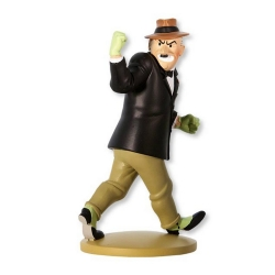 Collectible figurine Tintin, Gibbons the bully 12cm + Booklet Nº63 (2014)