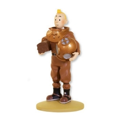 Collectible figurine Tintin, Tintin in a marine suit 12cm + Booklet Nº65 (2014)