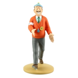 Collectible figurine Tintin, Jolyon Wagg is back 12cm + Booklet Nº67 (2014)