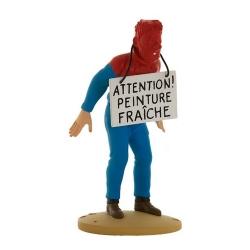 Figurine de collection Tintin, Haddock et la peinture 12cm + Livret Nº69 (2014)