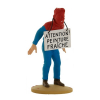 Collectible figurine Tintin, Haddock covered in paint 12cm + Booklet Nº69 (2014)