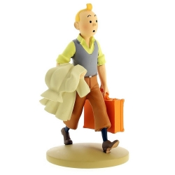 Collectible figurine Tintin On The Way 12cm + Booklet Nº95 (2015)