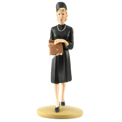 Collectible figurine Tintin, Mrs. Clairmont 15cm + Booklet Nº98 (2015)