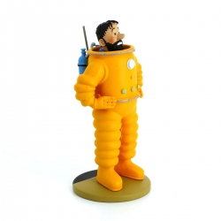 Collectible figurine Tintin, Haddock astronaut 13cm + Booklet Nº101 (2015)