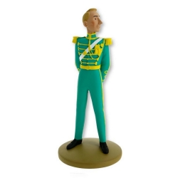 Figurine de collection Tintin, Hergé officier Syldave 13cm + Livret Nº111 (2016)