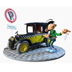 Figurine de collection Maris Jothieu Gaston Lagaffe avec sa Fiat 509 (2019)
