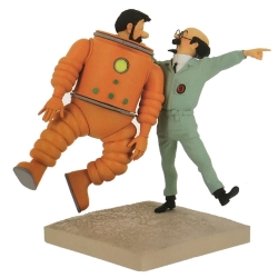 Figure Moulinsart Fariboles Tintin, Haddock and Calculus Moon 44024 (2019)