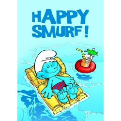 Poster affiche Les Schtroumpfs, Happy Smurf ! (50x70cm)