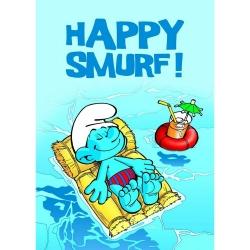 Póster Puppy Los Pitufos, Happy Smurf ! (50x70cm)