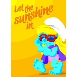 Poster The Smurfs, Let the Sunshine in (50x70cm)